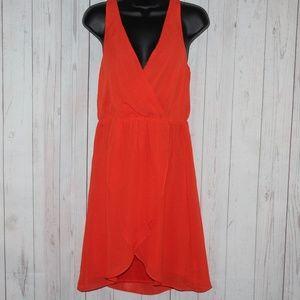 H&M Orange V-Neck Sleeveless Dress D#42